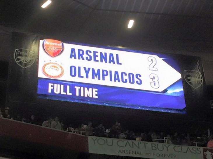 Ιστορική νίκη του Θρύλου 3-2 μέσα στο Emirates