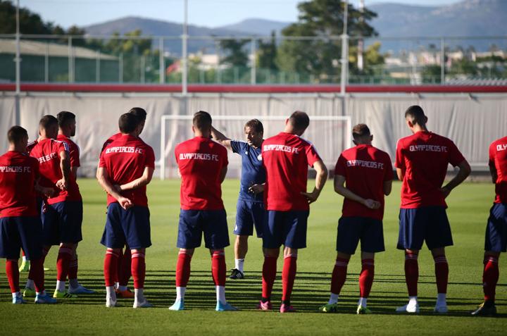 Ολοκληρώθηκε η προετοιμασία του Ολυμπιακού για το παιχνίδι της 20ης αγωνιστικής της Super League με τον ΟΦΗ στο Ηράκλειο