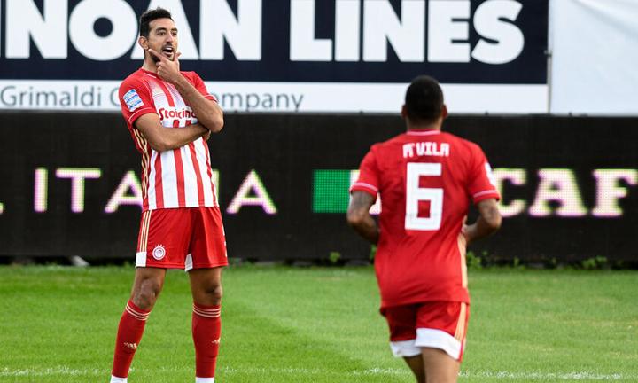 Ο Ολυμπιακός επικράτησε 2-0 του ΟΦΗ στην Κρήτη και πλέον βρίσκεται στην πρώτη θέση του βαθμολογικού πίνακα