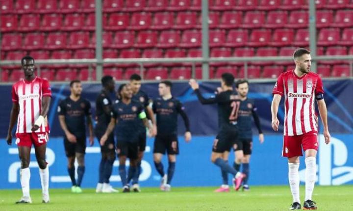 Ο Ολυμπιακός ηττήθηκε με 1-0 από τη Μάντσεστερ Σίτι για την 4η αγωνιστική των ομίλων του UEFA Champions League
